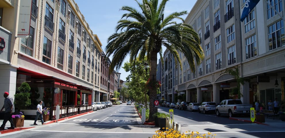 Clean, Comfortable Condo on Santana Row @ $179/day
