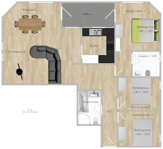 4.5-Zimmer Appartement