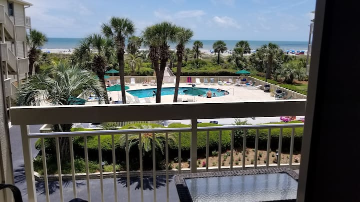 Private Beach access✔ Oceanfront✔H pool✔WiFi✪Max 4