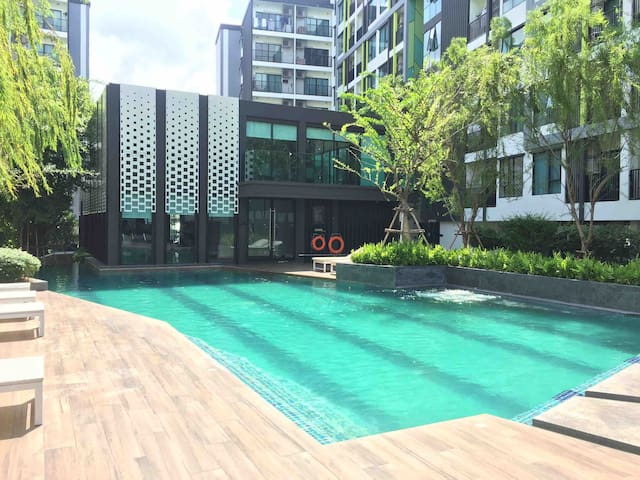 T1M  Two Beds  Apartment Near BTS On-Nut3-4人 中文接待