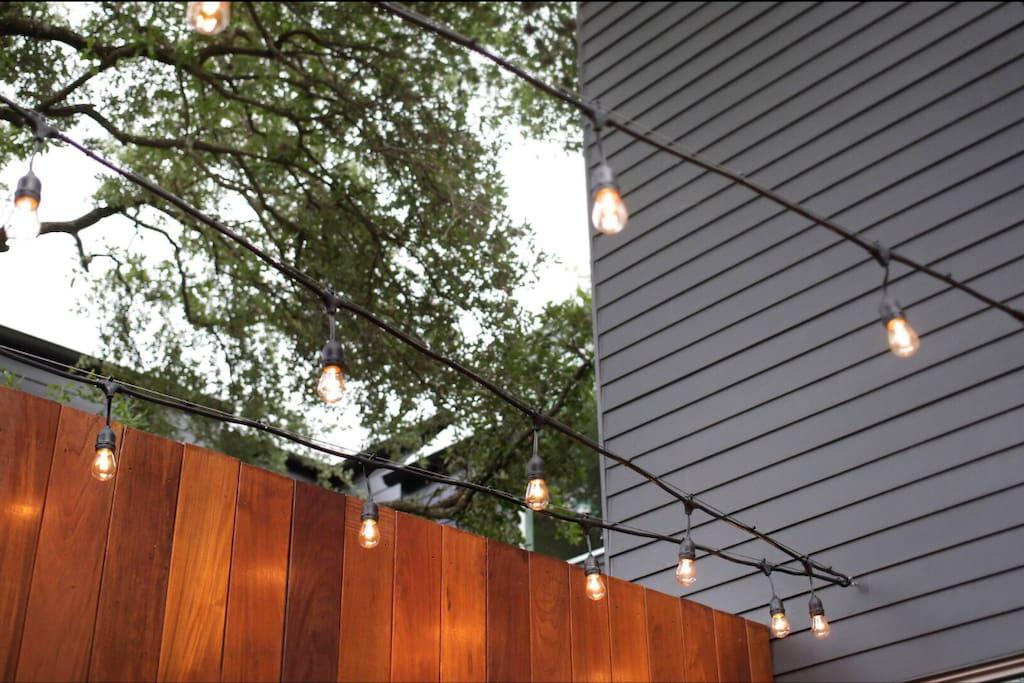 inviting intimate patio