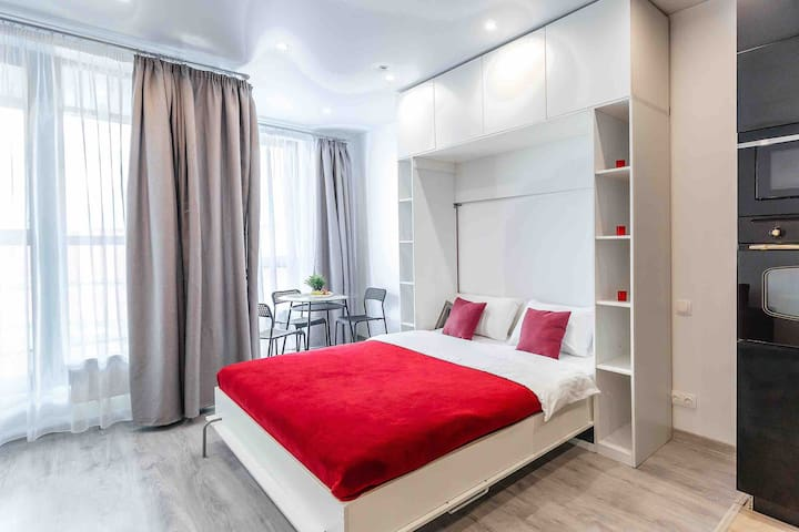Уютные стильные новые апартаменты возле м. ЦСКА