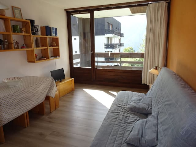 2 rooms apartment for 6 persons in plan Peisey close to shops and pistes