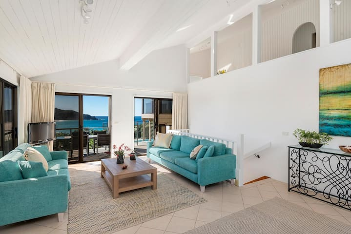 Take in the stunning ocean views as you relax in the living area.