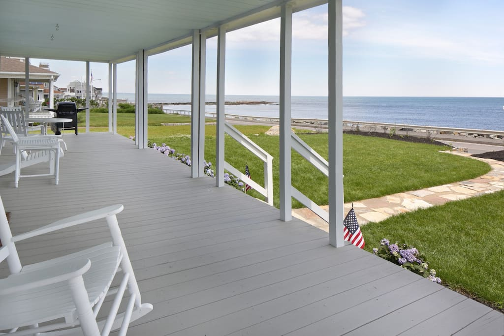 40' Front Deck With Views That Cannot Be Beat - Brant Rock Beach in Background