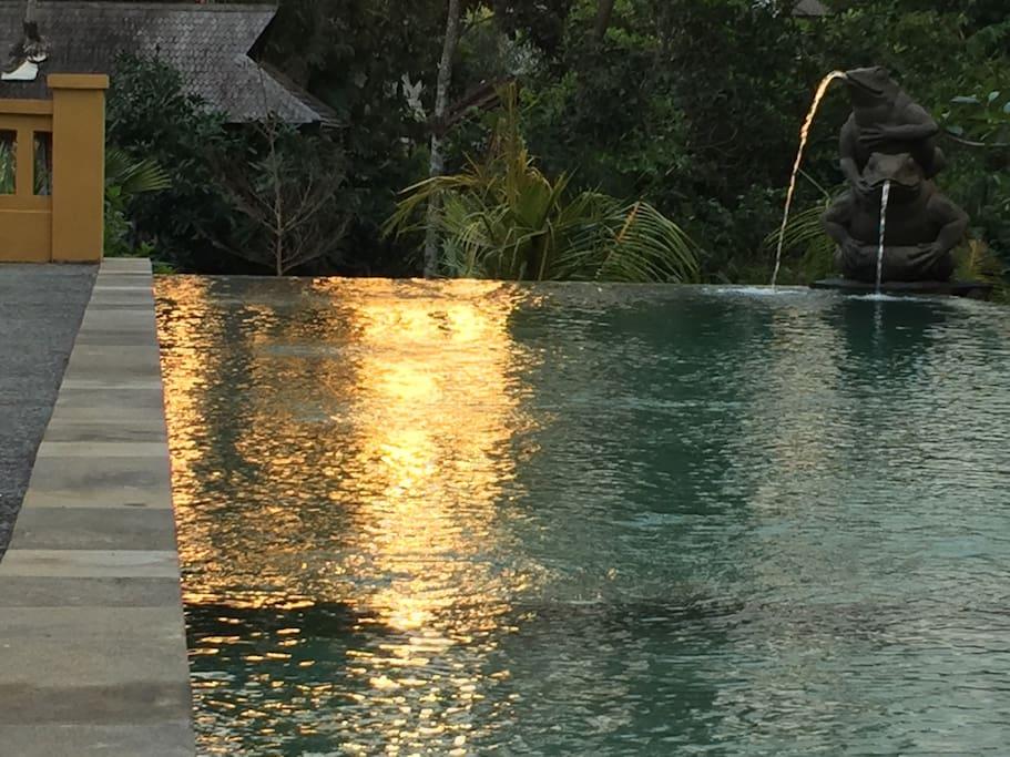 Lap pool on sunset