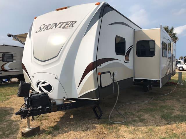 Castaway Camper delivered to Your Campsite
