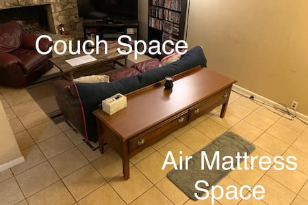 Floor Space/Air Mattress in Cute Ranch Style House
