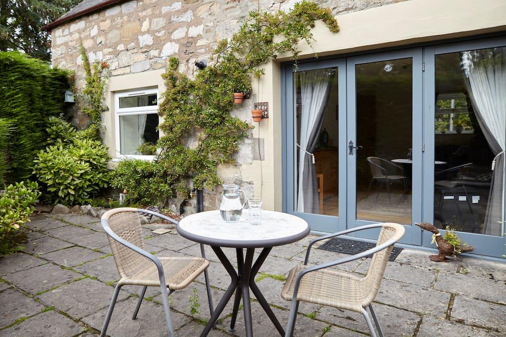 Enclosed private patio, great sun trap.
