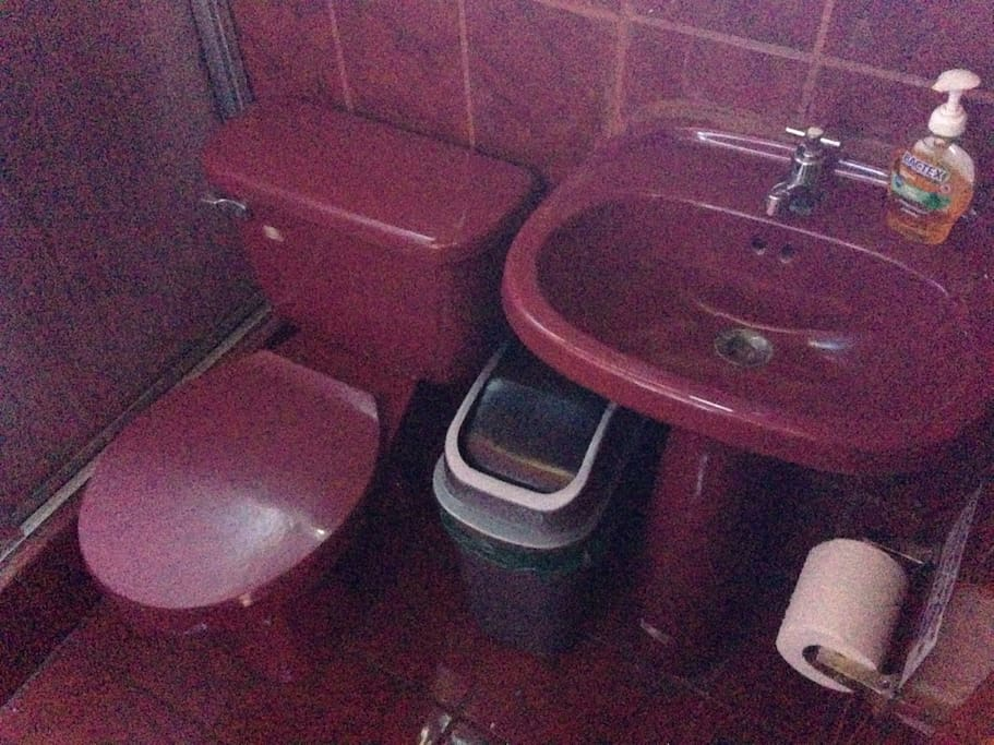 Yes it has private bathroom with hot water.