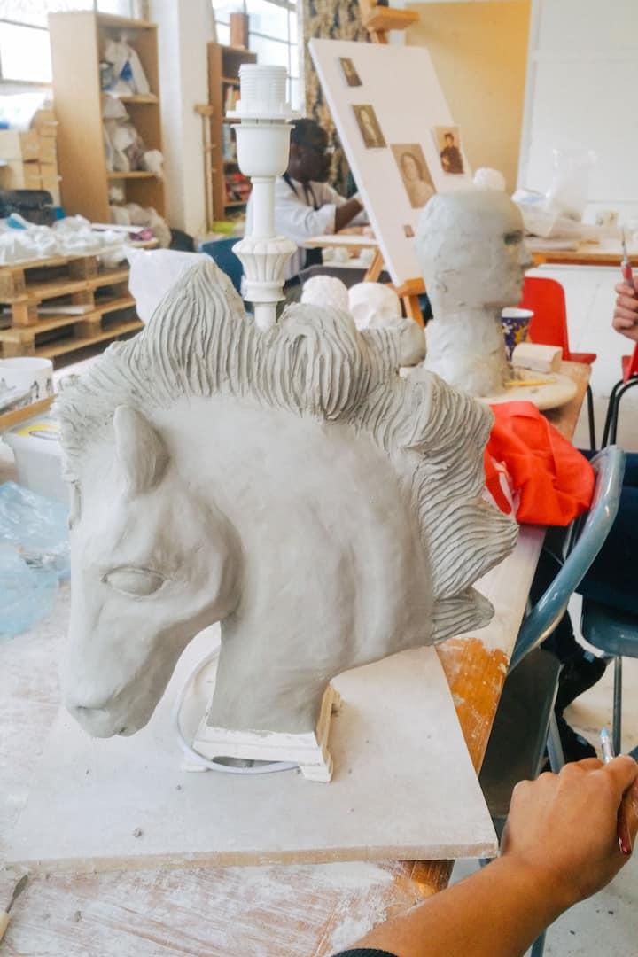 Horse sculpture lamp project