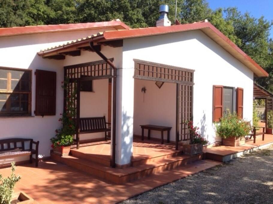 Private and gated villa.