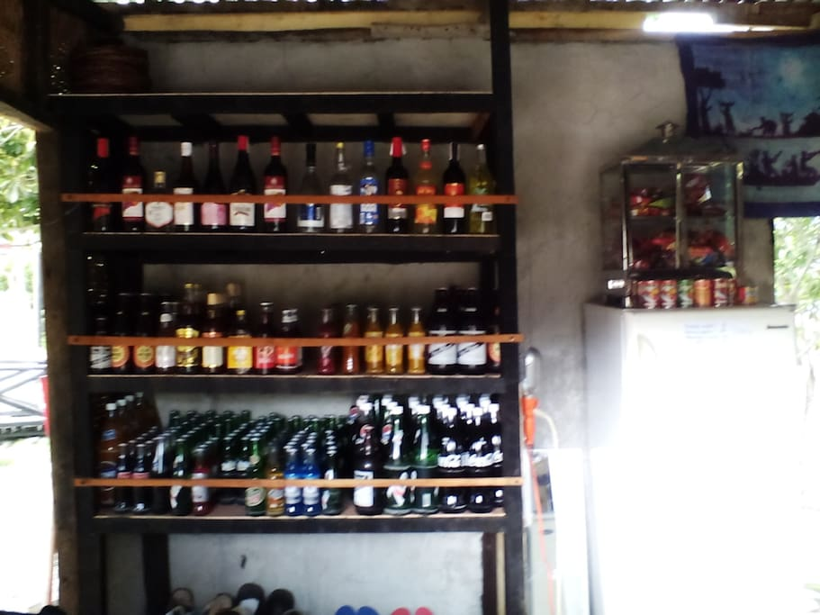 Selection of food and drinks available at local price