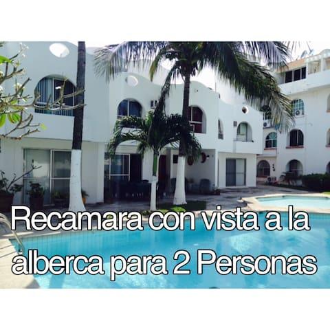 Recamara con vista a la alberca  I - Boca del Río - Dom