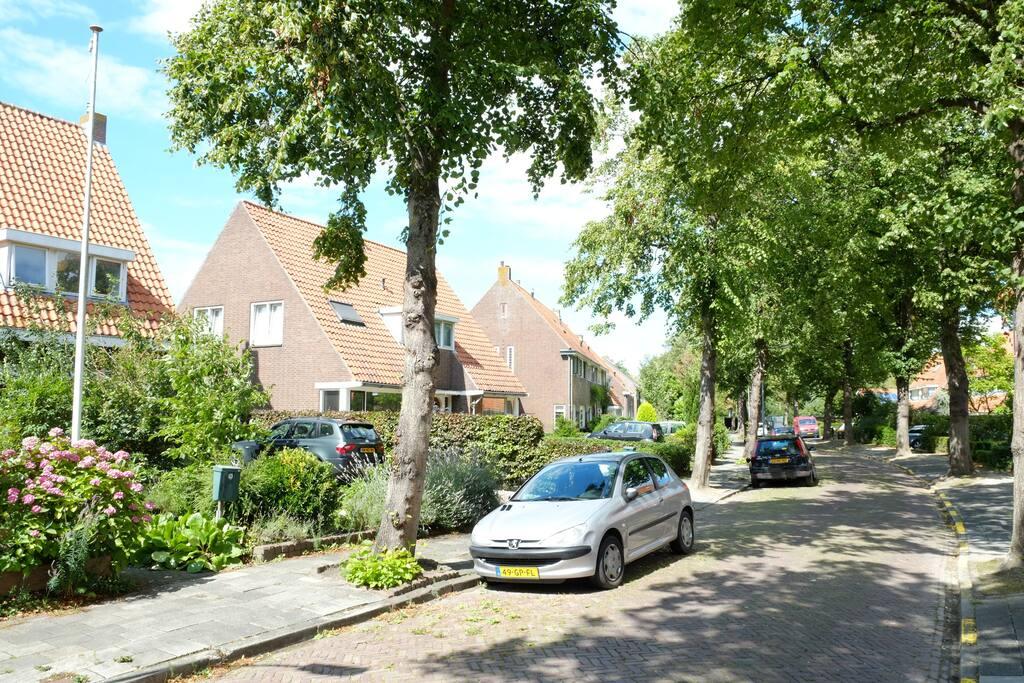 Nice quiet street near the center of Middelburg