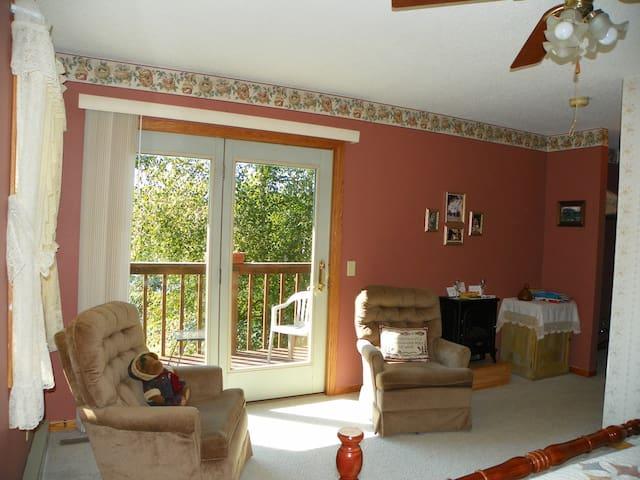 Second floor bedroom sitting area