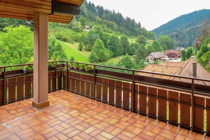Scenic Apartment in Bad Rippoldsau with Balcony & Parking