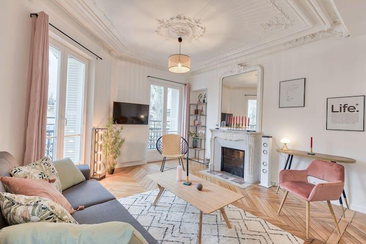 ♥ Haussmannian apartment near Sacré Coeur - 6P