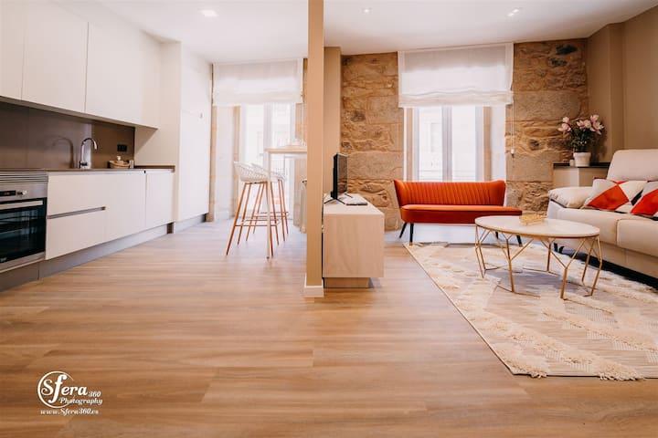 Apartamento Rúa Vella, 3 habitaciones, 6 personas