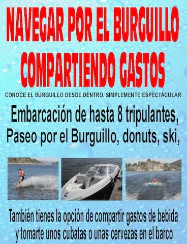 BARCO PARA 7 PERSONAS,  PANTANO DE EL BURGUILLO
