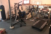 Workout Area in Basement