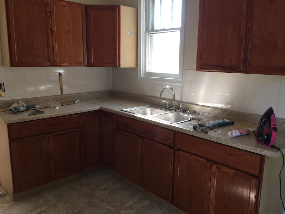 New Cabinets, sink and countertops