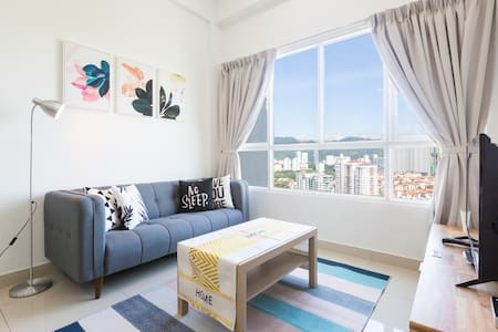 ★Nature Home★2 BR Condo 4-5 Pax | Queensbay Penang