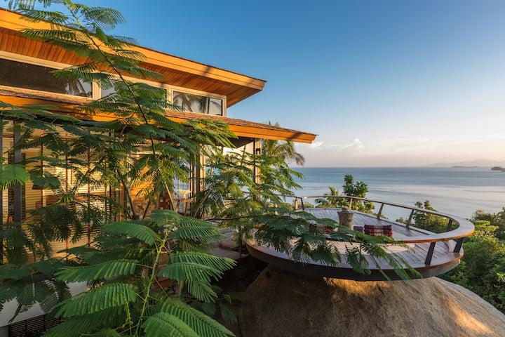 50% OFF Sleek Designer Ocean View Hillside Villa