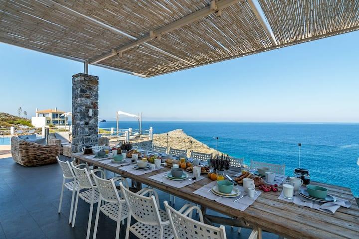 Sea front villa Penelope with stunning sea views
