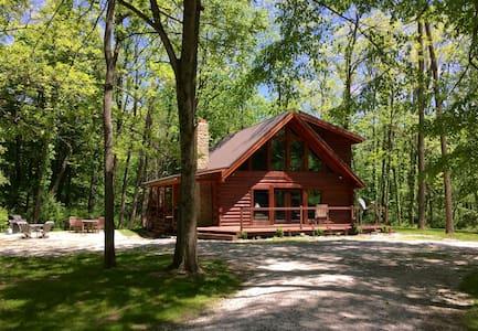 *Log cabin nestled inside 6000 acres of wilderness