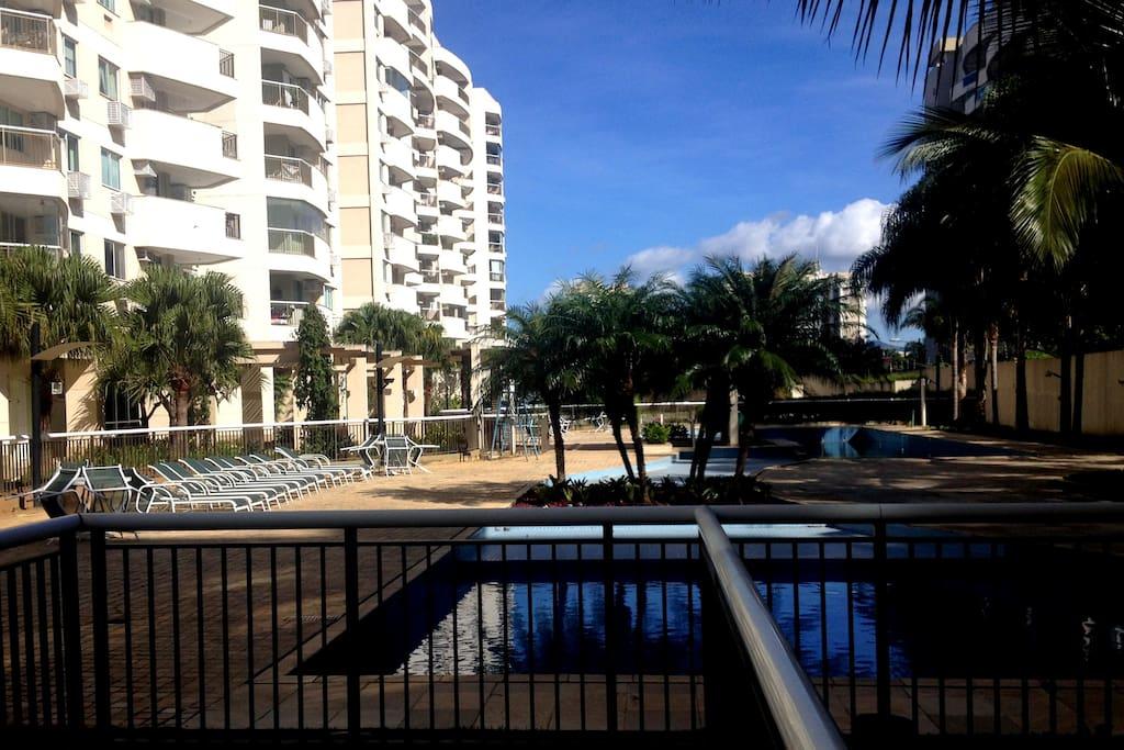 Área da piscina.