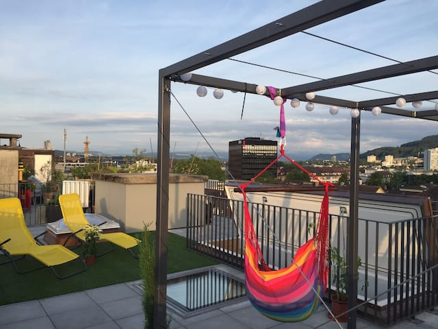 Rooftopterrasse - cozy new room near citycenter