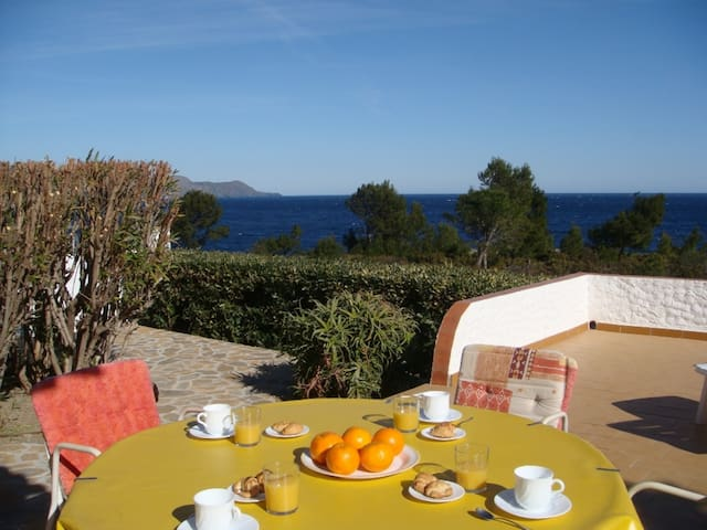 009 House for rent first sea line with sea views with terrace and garden