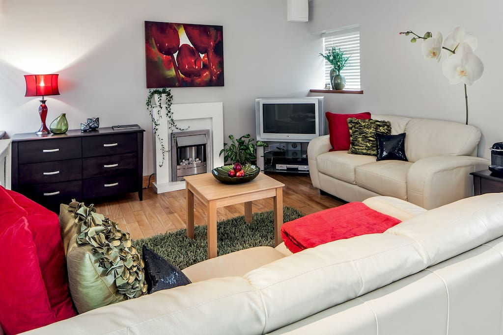 Open plan living space with luxury fittings