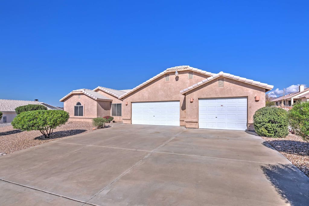 The beautiful home is situated on a quiet street within Sunridge Estates, one of the most desirable neighborhoods in the Bullhead City area.