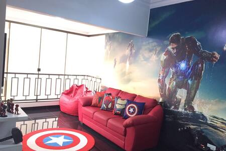 Os Vingadores apartamento...