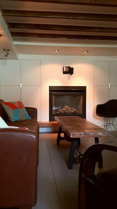 Votre salon du studio. Your livingroom.