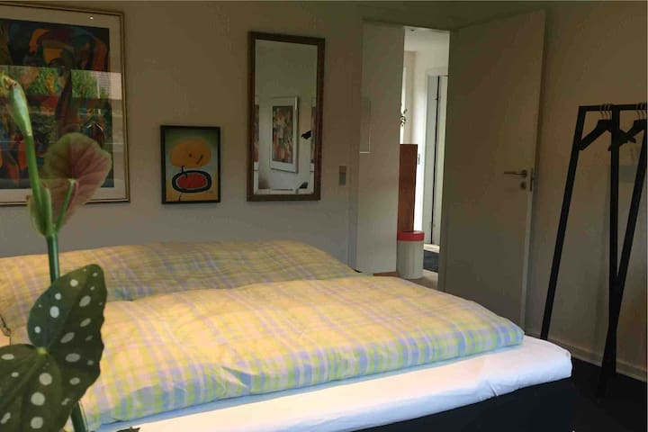 Room with a double bed near Koldinghus
