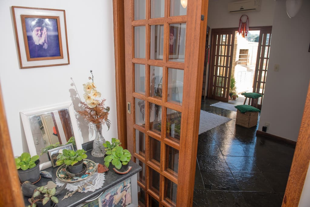Entrance door, view to the living room.
