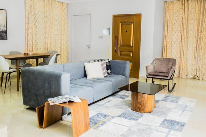 Cozy, warm bedroom in a tastefully decorated apt