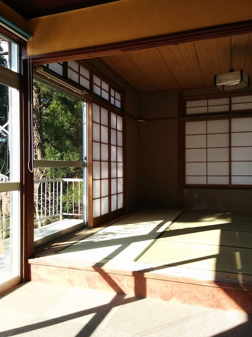 Zen Room One, which is a large room, and for the guests, overlooks mountains and the sea.