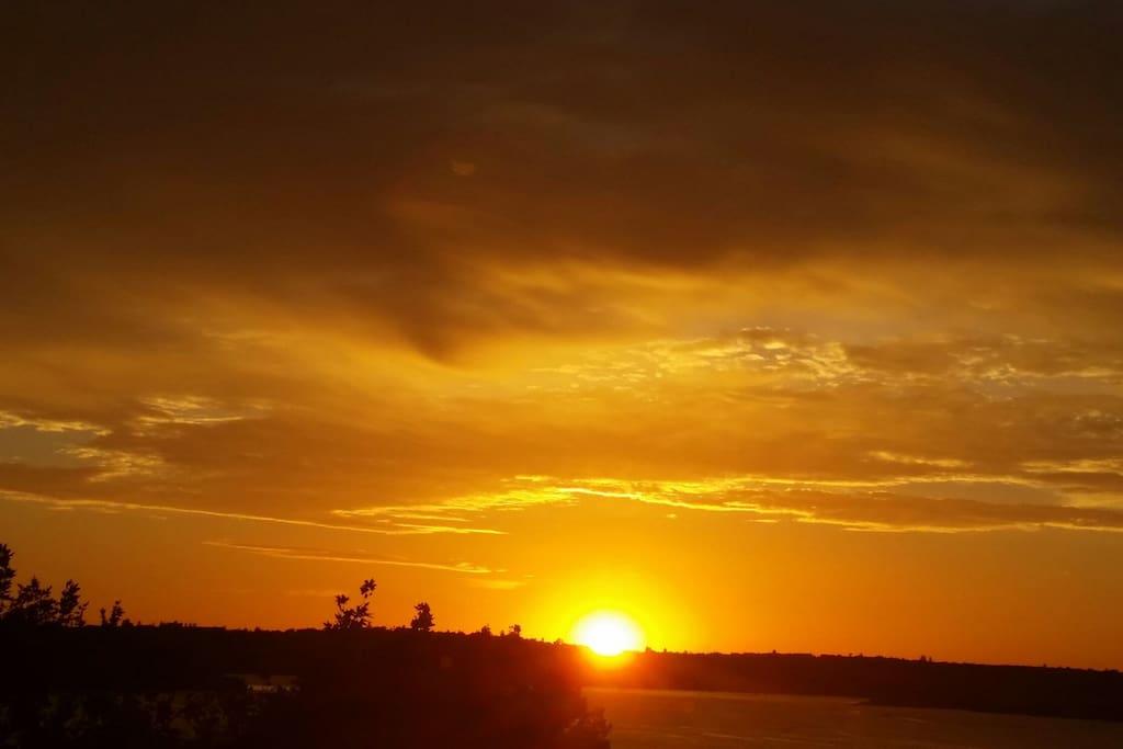 Mesmerizing Sunrise...yoga on the balcony!