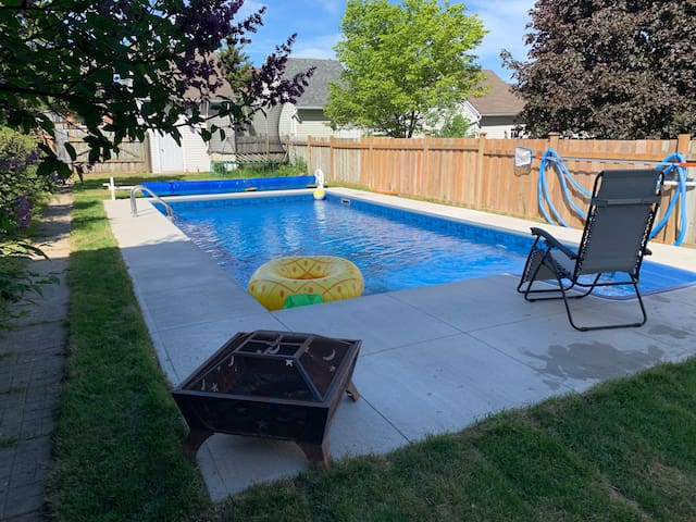 New this year - a beautiful in-ground pool. Perfect to cool off and relax.