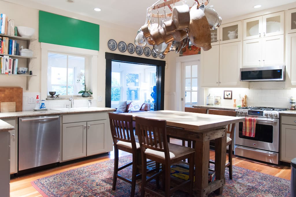 large shared kitchen has every cooking tool you can imagine