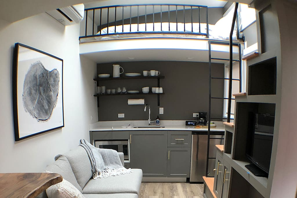 A second loft over the top of the kitchen.