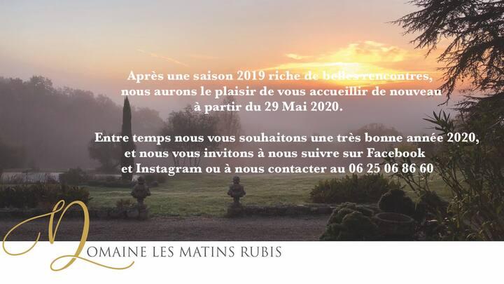 Domaine les Matins Rubis, Suite Jardin Secret