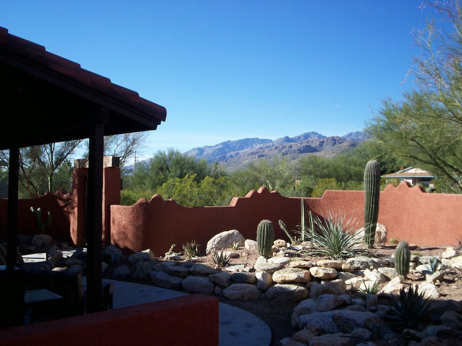 Courtyard with views of the Catalina Mountains