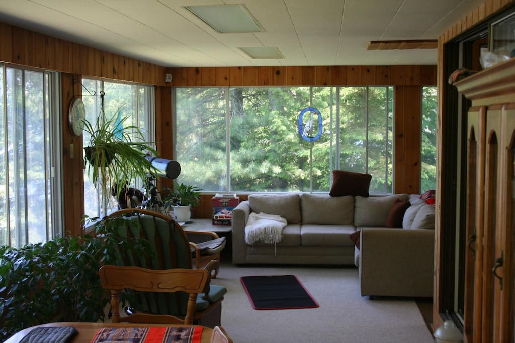3 Season Porch room away from bugs and elements.