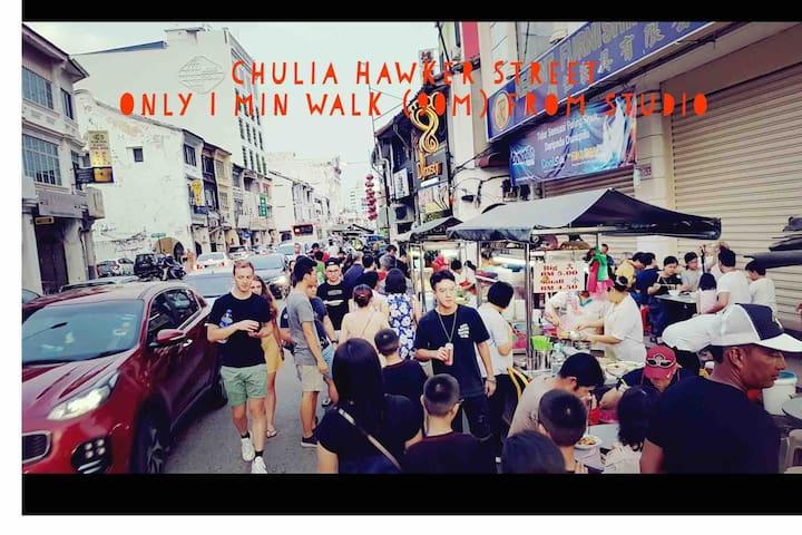 Chic & Modern Heritage Studio@Chulia  4pax WIFI 