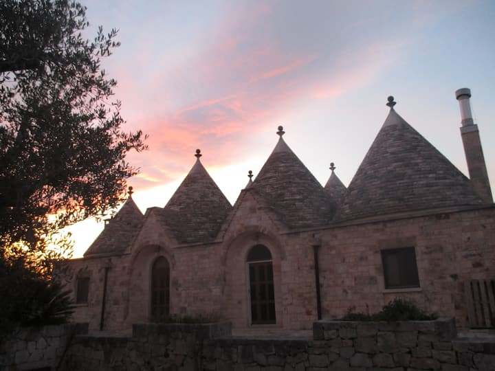 panoramic villa complex of trulli, offering a comf